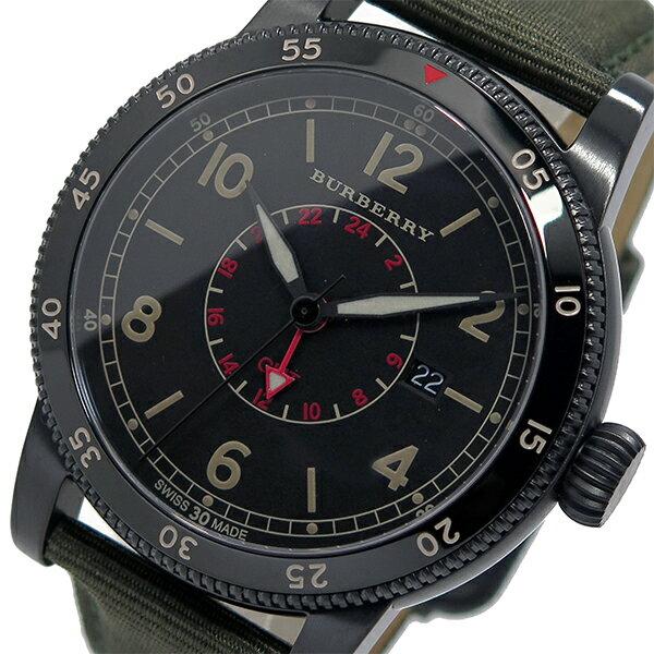バーバリー BURBERRY 腕時計 メンズ レザー 100m防水 ブラック ユティリタリアン