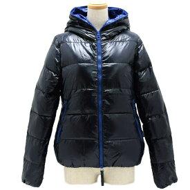 デュベティカ DUVETICA ダウンジャケット レディース フード BLUE×NAVY 42サイズ