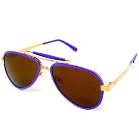 ガガミラノ GaGa MILANOFRED サングラス メンズ レディース ユニセックス チタン ティアドロップ VIOLET-FL 54サイズ