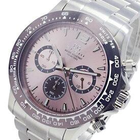 エルジン ELGIN 腕時計 メンズ クロノグラフ 100m防水 ピンク