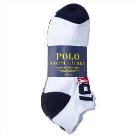 ポロラルフローレン POLO RALPH LAUREN アンクルソックス6足セット 靴下6足セット アンクレット6足セット メンズ ロゴ 25.5cm-30cm