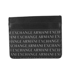 アルマーニエクスチェンジ ARMANI EXCHANGE パスケース 定期入れ カードケース メンズ ロゴ柄 BK CREDIT CARD HOLDER - MEN'S CREDIT CARD HOLDER
