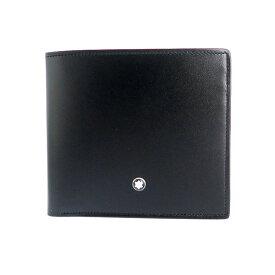 モンブラン MONTBLANC 二つ折り財布 メンズ レザー ブラック マイスターシュテュック