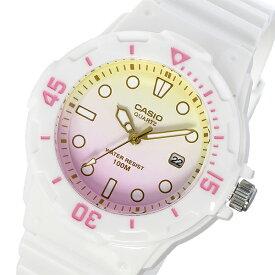 カシオ CASIO 腕時計 レディース イエロー×ピンク ダイバールック DIVER LOOK