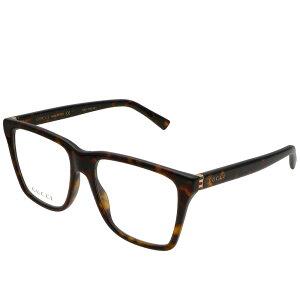 グッチ GUCCI メガネフレーム 眼鏡フレーム 伊達メガネ メンズ スクエア型 ウエリントン型 べっ甲柄
