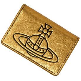 ヴィヴィアンウエストウッド VIVIENNE WESTWOOD パスケース 定期入れ カードケース レディース メンズ ユニセックス レザー GOLD