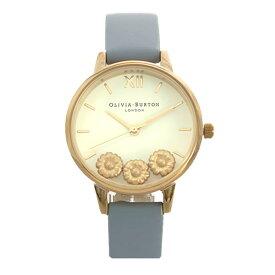 オリビアバートン OLIVIA BURTON 腕時計 レディース ホワイト グレーブルー