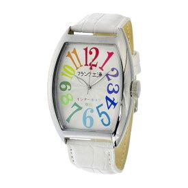 【ポイント10倍 〜6/26 1:59】フランク三浦 FRANK MIURA 腕時計 メンズ ホワイト/マルチ インターネッツ別注