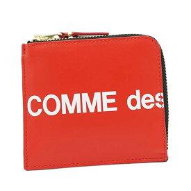 コムデギャルソン COMME des GARCONS コインケース 小銭入れ レディース メンズ ユニセックス レザー L字ファスナー ロゴ RED