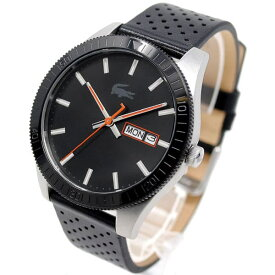 ラコステ Lacoste 腕時計 メンズ レザー アナログ ブラック