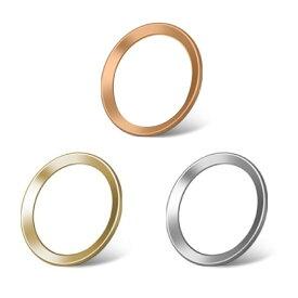 3枚セット iPhoneホームボタンシール TouchID 指紋認証可能 アイフォンボタン シルバー 保護シール 取付簡単