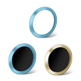 3枚セット iPhoneホームボタンシール TouchID 指紋認証可能 アイフォンボタン ブルー系 保護シール 取付簡単