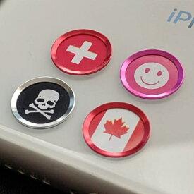 【送料無料】TOUCH ID BUTTON iPhone 指紋認証対応 iphone iPad ホームボタンカバー 吹き出し 電源ボタン 4種