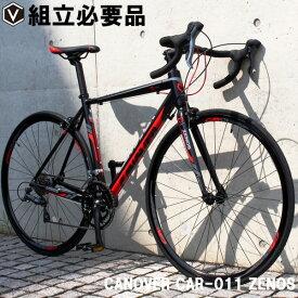 ロードバイク 自転車 700c(約27インチ) ロードレーサー シマノ16段変速 超軽量 アルミフレーム デュアルコントロールレバー アヘッドステム CANOVER カノーバー CAR-011 ZENOS ゼノス