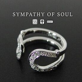 シンパシーオブソウル ダブル ホースシュー リング キュービックジルコニア sympathy of soul Double Horseshoe Ring Silver w/CZ 馬蹄 指輪 メンズ レディース ユニセックス アクセサリー シンプル ギフト