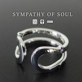 シンパシーオブソウル ダブル ホースシュー リング シルバー sympathy of soul Double Horseshoe Ring Silver 馬蹄 指輪 メンズ レディース ユニセックス アクセサリー シンプル ギフト
