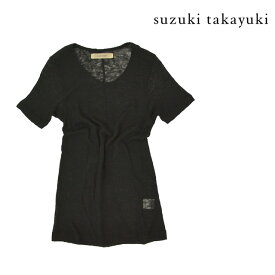 【送料無料】suzuku takayuki/スズキタカユキ Tシャツ メンズ レディース ユニセックス トップス 半袖 ブラック 黒 薄手 透け感 伸縮性あり