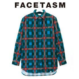FACETASM ファセッタズム CHECK BIG SHIRT チェック ビッグ シャツ 長袖 総柄 メンズ 2019 新作 【15:00までのご注文で即日配送】 プレゼント ギフト