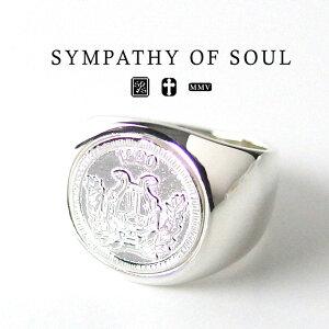 シンパシーオブソウル クラシック コインリング シルバー sympathy of soul Classic Coin Ring Good Luck Silver 指輪 メンズ レディース ユニセックス シンプル ギフト