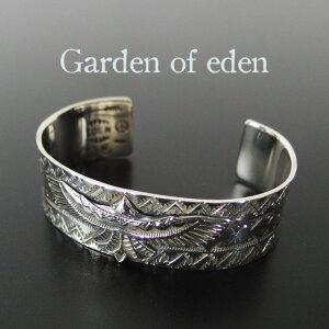 ガーデンオブエデン シルバー バングル 太め メンズ レディース ブレスレット インディアン ジュエリー ネイティブ Garden of eden シンプル ギフト 【送料無料】