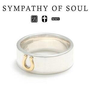 シンパシーオブソウル ホースシュー チャーム リング ワイド シルバー ゴールド sympathy of soul Horseshoe Charm Ring Wide Silver K18YG 指輪 メンズ レディース ユニセックス アクセサリー シンプル ギフ