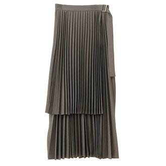 クラネ CLANE pleated skirt 3WAY PLEATS SKIRT long skirt Lady's present gift