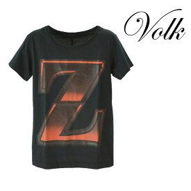 【送料無料】KENZO MINAMI/ケンゾー ミナミ ZプリントTシャツ メンズ トップス Tシャツ 半袖 ブラック 黒 コットン 綿 デザイン カジュアル 夏