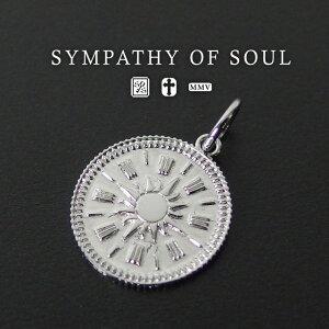 シンパシーオブソウル ペンダント M.ホープサンコインチャーム sympathy of soul Medium Hope Sun Coin Charm Silver (シルバーペンダント メンズ レディース ネックレス シンプル シルバー) プレゼント ギ