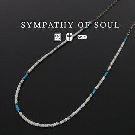 シンパシーオブソウル チェーン&ビーズネックレス sympathy of soul Chain & Beads Necklace ネックレス アクセサリー【送料無料】 プレゼント ギフト シンパシー オブ ソウル