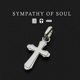 シンパシーオブソウル ペンダント シルバークロスネックレスM Smooth Cross Pendant M - Silver メンズ レディース ユニセックス sympathy of soul アクセサリー 【送料無料】 プレゼント ギフト シンパシー オブ ソウル