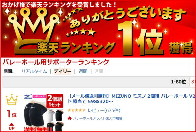 【メール便送料無料】MIZUNOミズノ2個組バレーボールV2MY8008膝サポータースポーツニーパッド膝当て59SS320の後継モデル