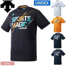 バレーボール 練習着 半袖 Tシャツ「SportsMagic」デサント DVUPJA52