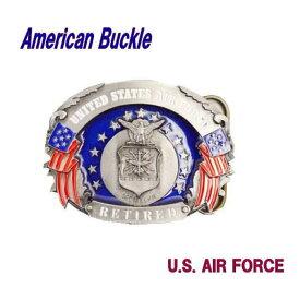 ウエスタンバックル ベルト留め具 ベルト金具 AIR FORCE 空軍 エアフォース 軍モノ 軍もの 軍物 ミリタリー