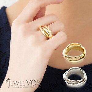 リング 指輪 レディース 金属アレルギー 3連 メタル ゴールド シルバー 金 銀 シンプル デイリー カジュアル ニッケルフリー 安心 重ね付け 重ね着け 重ねづけ ブランド ジュエルボックス jewelvox