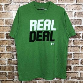 UNDER ARMOUR 半袖Tシャツ サイズ表記Lくらい アンダーアーマー グリーン 古着卸 アメリカ仕入 t206-4517