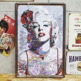 【エントリーで最大14倍確定★30日 9時59分まで&対象商品で使える最大20%割引クーポン配布】レトロ ブリキ看板 大判 メタルプレート マリリンモンロー Marilyn Monroe 女優 セクシー アメリカンレトロ アンティーク【BZ-55】