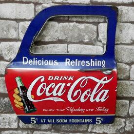 【売り切れ御免!エントリーで最大P14倍 3/20(金)20:00〜3/28(土)1:59まで】アメリカンレトロ ドア型プレート ブリキ アメリカ雑貨 壁掛け コカコーラ Coca Cola ドリンク DRINK 18