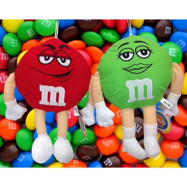 M&M's チョコ エムアンドエムズ ぬいぐるみ プラッシュ 全2種 レッド グリーン