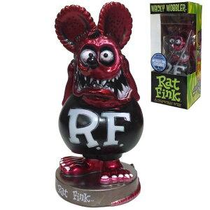 FUNKO Wacky Wobbler RAT FINK (メタリックレッド) ラットフィンク ボビングヘッド 首振り人形 フィギュア ラットフィンク RF グッズ