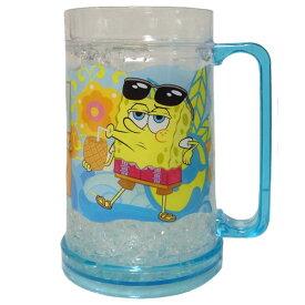 スポンジボブ 16OZ フリーザー マグ コップ ジョッキ SpongeBob ニコロデオン グッズ 食器 キッチン 小物入れ ペン立て ギフト プレゼント ダイナー DINER キャラクター かわいい 輸入品 レア 人気 アウトドア ピクニック