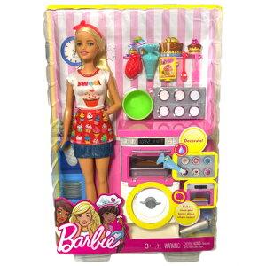 Barbie バービー オーブン プレイセット 人形 フィギュア ケーキ グッズ おもちゃ かわいい おしゃれ 女の子 プレゼント ギフト 子供用 大人用 知育 ピンク 人気 レア クリスマス