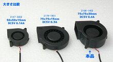 USBFAN7.5cmDCブロアファンDC5V/0.4A厚さ3cm