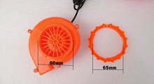 着ぐるみ用強力ファン電池ボックス付きオレンジ