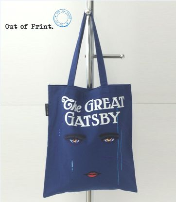 OUT OF PRINTアウトオブプリント トートバッグ キャンバス地THE GREAT GATSBY 華麗なるギャッツビー【あす楽対応】【コンビニ受取対応商品】【1個までメール便OK!!】