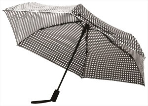 エスシーエス ギンガムチェック 折りたたみ傘 自動開閉 日傘/晴雨兼用 ブラック