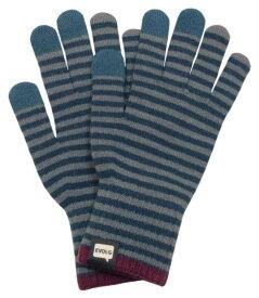 タッチパネル対応手袋 ユニセックス Evolg エヴォログ ディープブルー×グレー CON