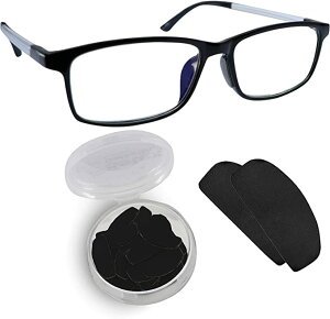Setex(セテックス) ゲッコーグリップ メガネ ずれ防止パッド/特許取得/薄型 / 15ペア(30枚) ブラック 【国内正規品】