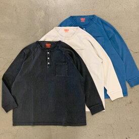 "ONEITA HENLEY NECK L/S T-SHIRT ""PIGMENT"" (オニータ ヘンリーネック Tシャツ ロンT)"