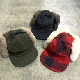 FILSON / DOUBLE MACKINAW CAP  Forest Green, Charcoal, Red/Black Plaid