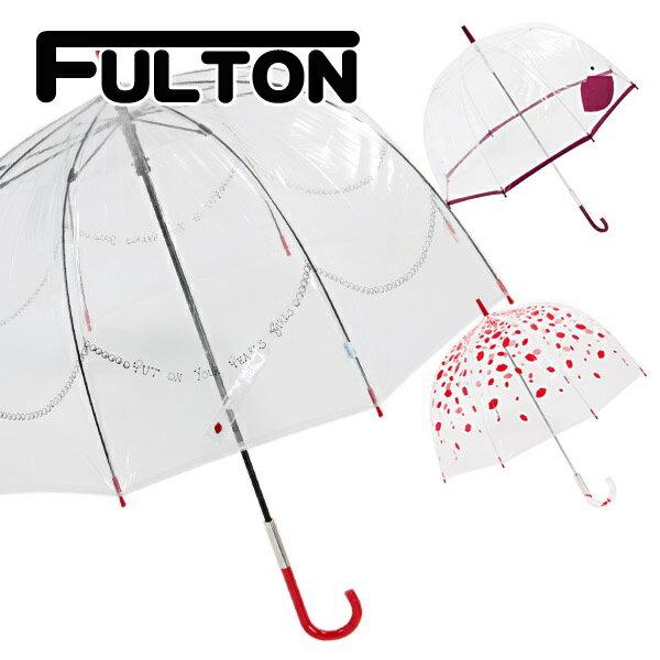 フルトン fulton 傘 雨傘 バードケージ birdcage ビニール傘 長傘 英国王室御用達 ルル ギネス Lulu Guinness UK デザイナーコラボ 正規品 セール 傘 プレゼント ギフト かわいいブランド 新品 新作 2018年 バレンタイン ホワイトデー ギフト